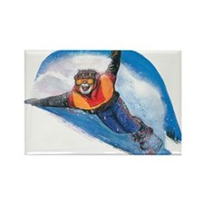 Snow Boarding Rectangle Magnet