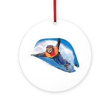 Snow Boarding Keepsake (Round)