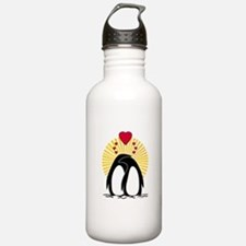 Loving Penguins Sun Water Bottle
