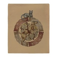Celtic Cat And Dog Throw Blanket