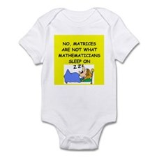 funny math joke Infant Bodysuit