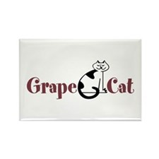 Grape Cat Rectangle Magnet