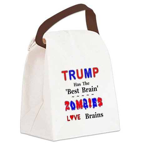 Trump Best Brain Canvas Lunch Bag
