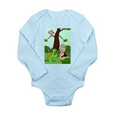 Cute Happy easter Long Sleeve Infant Bodysuit