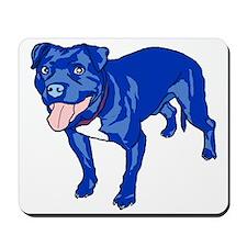 Tenacious Toys Danger Dog blue pitbull mousepad