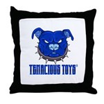 Tenacious Toys Blue Pitbull Throw Pillow