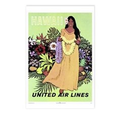 United Airlines 'Hawaii' Postcards (Package of 8)