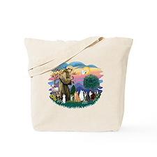 St Francis (ff)-7 Cats Tote Bag