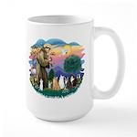 St Francis (ff)-7 Cats Large Mug