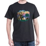 St Francis (ff)-7 Cats Dark T-Shirt
