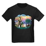St Francis (ff)-7 Cats Kids Dark T-Shirt