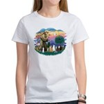 St Francis (ff)-7 Cats Women's T-Shirt