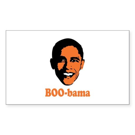 Halloween Boo Bama Sticker (Rectangle 10 pk)