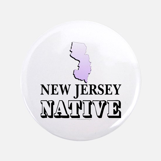 """New Jersey native 3.5"""" Button"""