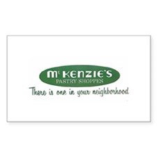 McKenzie's Pastry Shoppe Rectangle Decal