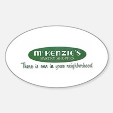 McKenzie's Pastry Shoppe Oval Decal