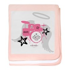 Pink Baby Drums Infant Blanket