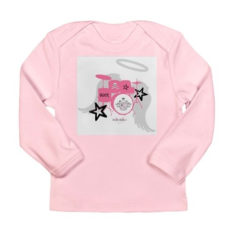 Pink Baby Drums Long Sleeve Infant T-Shirt