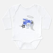 Blue Baby Drums Long Sleeve Infant Bodysuit