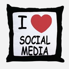 I heart social media Throw Pillow