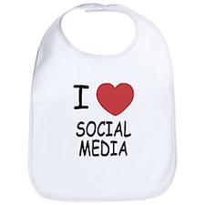 I heart social media Bib