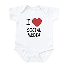 I heart social media Infant Bodysuit