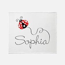 Ladybug Sophia Throw Blanket