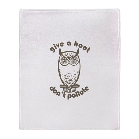 Give A Hoot Throw Blanket