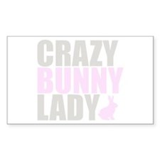 CRAZY BUNNY LADY Decal