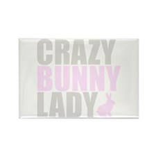 CRAZY BUNNY LADY Rectangle Magnet (10 pack)