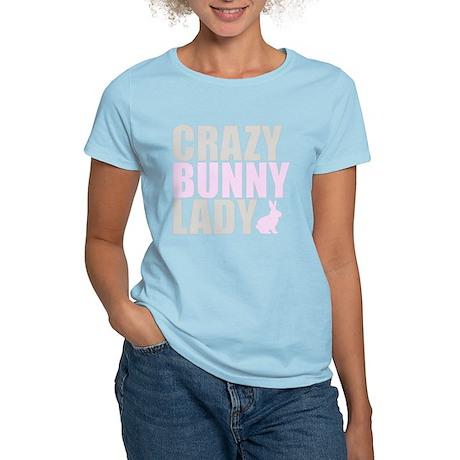 CRAZY BUNNY LADY Women's Light T-Shirt