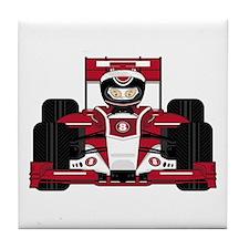 Red Racing Car Tile Coaster