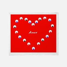 Heart Amor Love Throw Blanket Throw Blanket