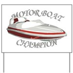 Motor Boat Yard Sign