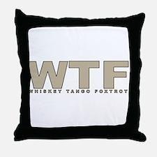 Whiskey Tango Foxtrot Throw Pillow