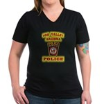 Oro Valley Police Women's V-Neck Dark T-Shirt