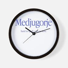 Funny Medjugorje Wall Clock