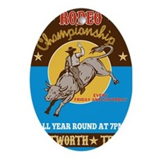 Rodeo Cowboy bull riding Ornament (Oval)