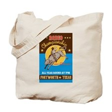 Rodeo Cowboy bull riding Tote Bag