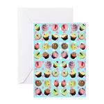 Polka Dot Cupcakes Greeting Card