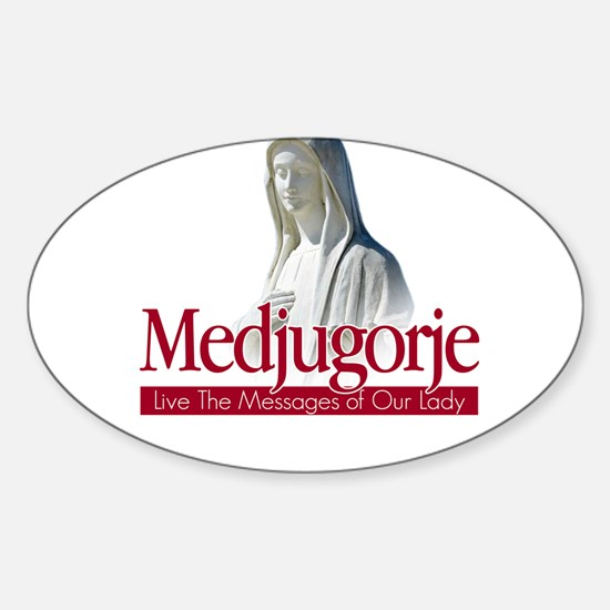 Cute Religion and beliefs catholic Sticker (Oval)