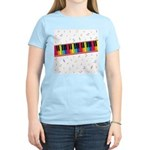 Colorful Piano Women's Light T-Shirt