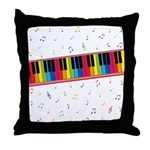 Colorful Piano Throw Pillow