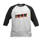 Colorful Piano Kids Baseball Jersey