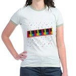 Colorful Piano Jr. Ringer T-Shirt