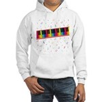 Colorful Piano Hooded Sweatshirt