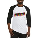 Colorful Piano Baseball Jersey