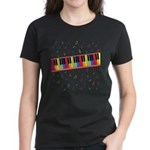 Colorful Piano Women's Dark T-Shirt
