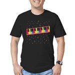 Colorful Piano Men's Fitted T-Shirt (dark)
