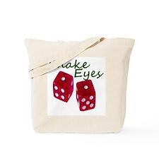 Gambling Snake Eyes Dice Tote Bag